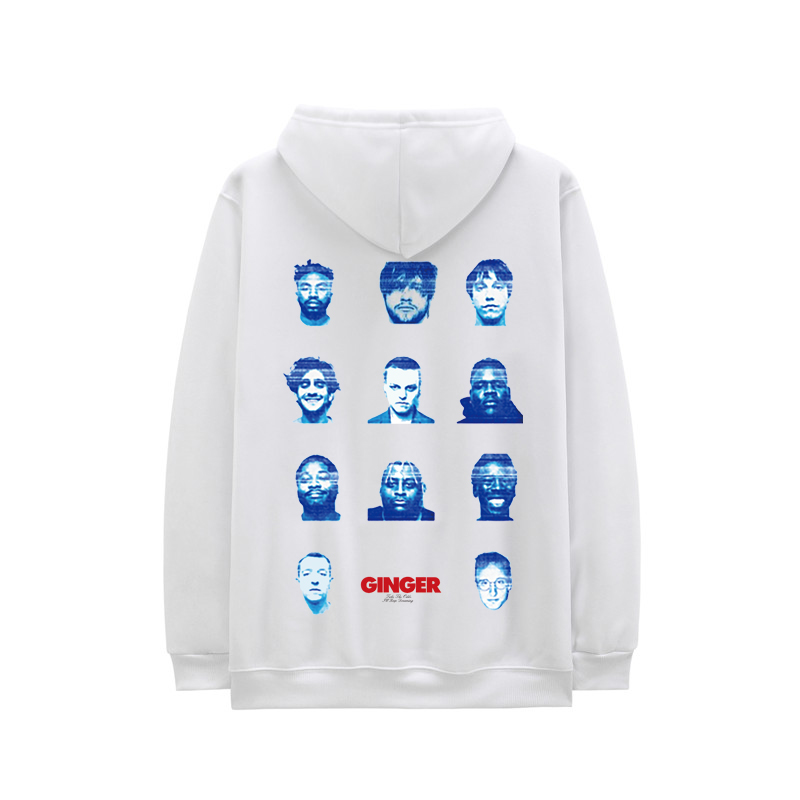 New Casual Brockhampton All-American Boyband Hoodies Men GINGER Face Print Harajuku Hooded Sweatshirts Hip Hop Swag Hoody