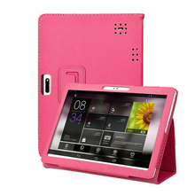 Universal Leather Stand Cover Case Protective Shell Skin For 10 10.1 Inch Android Tablet PC tablet case 7 inch universal tablet pc protective shell for children shockproof cover eva handle stand for amazon kindle fire