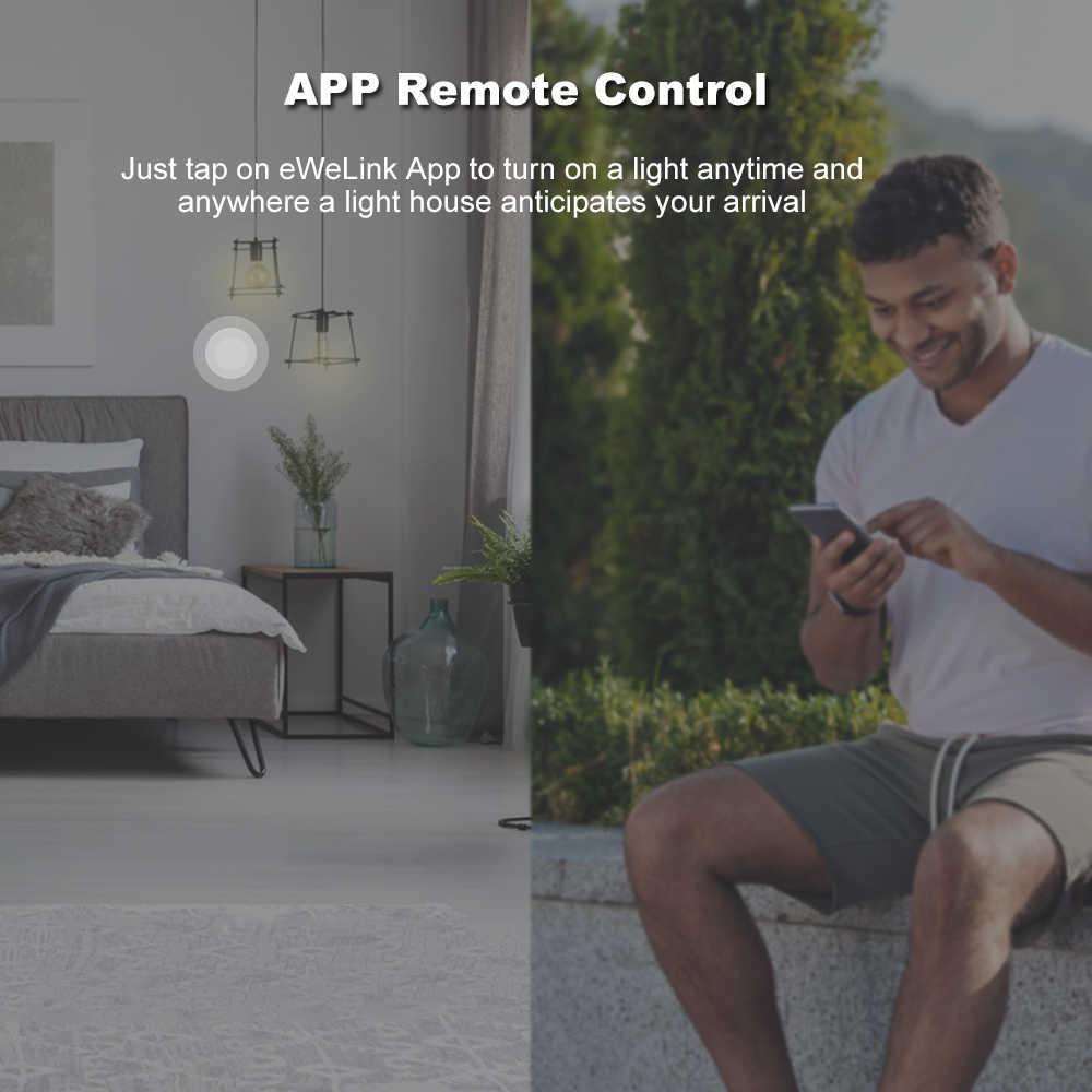 SONOFF T3 интеллигентая (ый) Переключатель 1/2/3 серии TX WI-FI настенный выключатель 433 МГц RF Дистанционное управление WI-FI переключатель дистанционного Управление дома светодиодный светильник переключатель