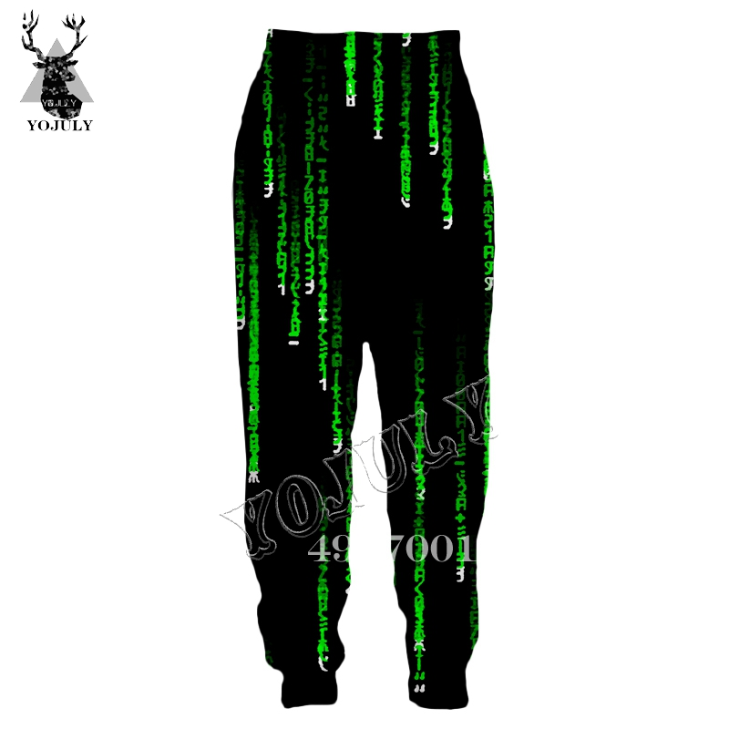 YOJULY I'm A Hacker Programming Code Gamer 3D Print Sweatpants Summer Unisex Fashion Long Pants Men Fashion Casual Trousers L7