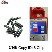 10 PCS/LOT, CN6 Copy ID48 Car Transponder Glass Blank Cloner Chip For CN900/ND900 MINI Key Programmer