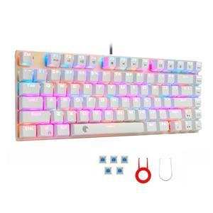 Image 2 - Z88 RGB Backlit Kleine Mechanische Tastatur Outemu Schalter Tenkeyless Keine Zahl Pad 81 Tasten Mini Gaming Tastatur für Schreibkraft Gamer