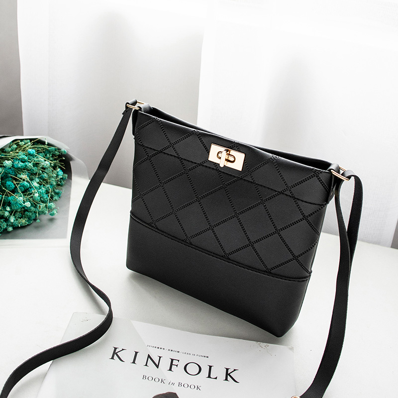 Image 3 - 2019 Diamond Lattice Plaid Bag Mini Hasp Handbag Cross body Bags 