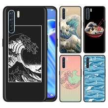 Oppo A5 A9 2020 A31 F15 Reno3 ユースプロ見つける X2 プロ lite のネオ A52 A72 A92 A92S ACE2 シェル北斎 great wave(China)