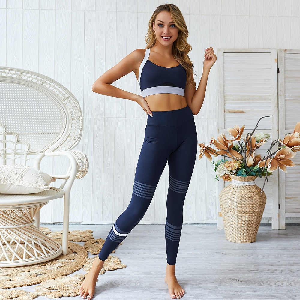 Lantech 2 pçs conjuntos de ternos esportivos conjuntos yoga ginásio calças de fitness leggings esportivas acolchoadas push-up sem costura sutiã esportivo atlético