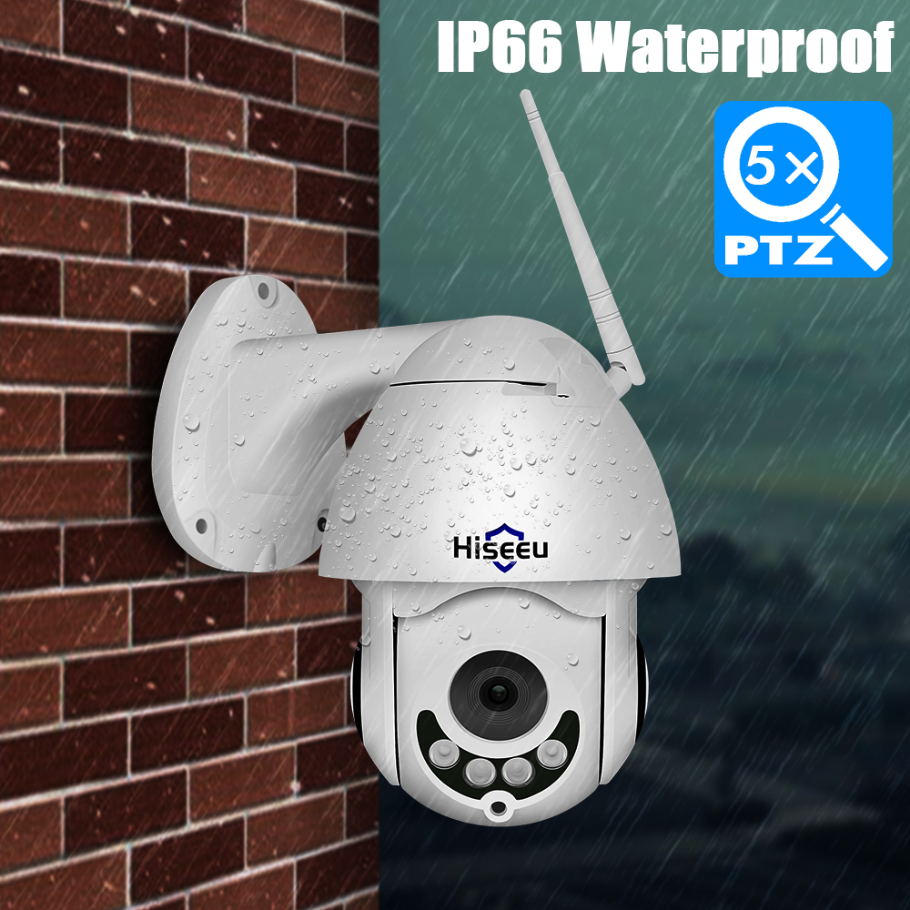 Hiseeu Mini PTZ IP Camera High Speed Dome Camera IP 1080P 5X Optical Zoom 2MP Outdoor Waterproof CCTV Video Surveillance ONVIF