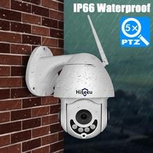 Hiseeu Mini PTZ IP Camera High Speed Dome Camera IP 1080P 5X Optical Zoom 2MP Outdoor Waterproof CCTV Video Surveillance ONVIF