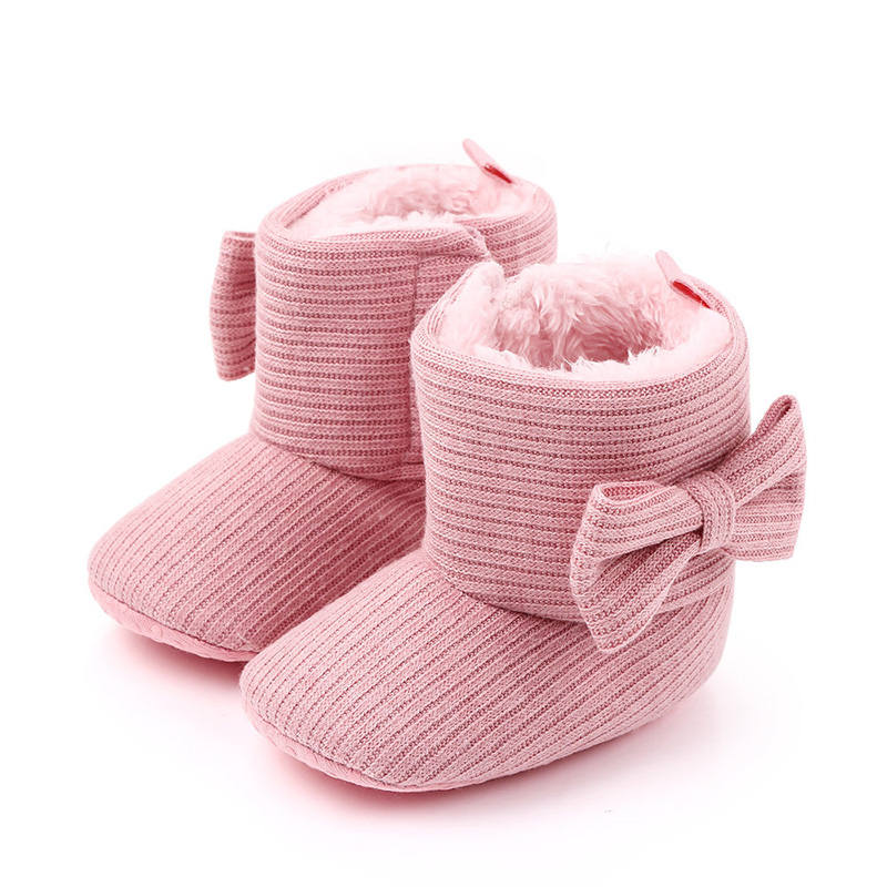 Winter Warm Thicken Baby Girl Boots Newborn Baby Girl Shoes Infant Pre Walker Shoes For Baby Girls Baby First Walker F117