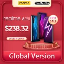 Realme 6 Pro cep telefonu 6.6 inç 90Hz ekran 64MP kamera 8GB 128GB Snapdragon 720G akıllı telefon 4300mAh pil 30W flaş şarj