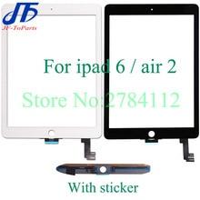 Sostituzione del pannello a sfioramento 10Pcs per ipad 6 air 2 6th A1567 A1566 touch screen digitizer vetro esterno lcd anteriore con adesivo