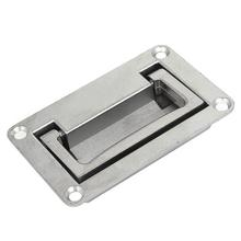 1 PCS 9.5cm x 6cm Metal Rectangle Shaped Recessed Folding Pull Handle Grip