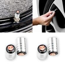 4 шт. Серебро автомобиль шина клапан сердечник крышка крышка для Dodges Challenger RAM 1500 зарядное устройство Avenger калибр нитро авто автомобиль аксессуары