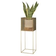 Nordic flower stand living room wrought iron metal creative modern minimalist floor gold decoration indoor bar flower pot shelf
