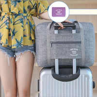 Waterproof Oxford Women Travel Organizer Bag Portable Large Capacity Luggage Bag Carry On Luggage Duffel Bags Girl Weekend Bags