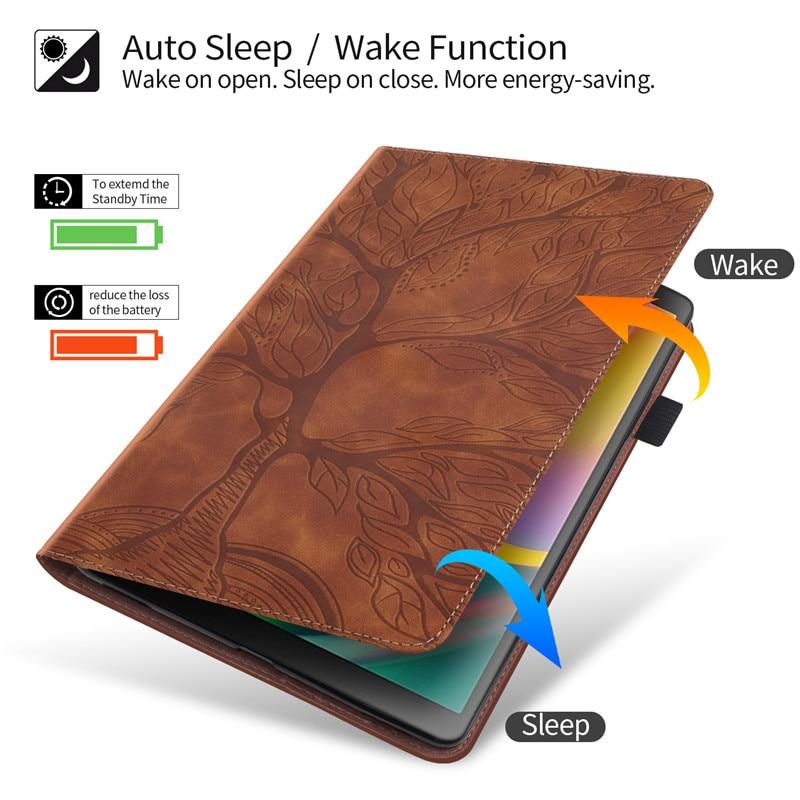 iPad Stand-Tablet Pro Wallet for 11 Emboss-Tree Funda Flip-Case Coque