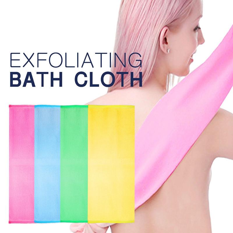 New Shower Exfoliating Back Scrubber Men Women Long Bath Towel Deep Clean Skin SCI88