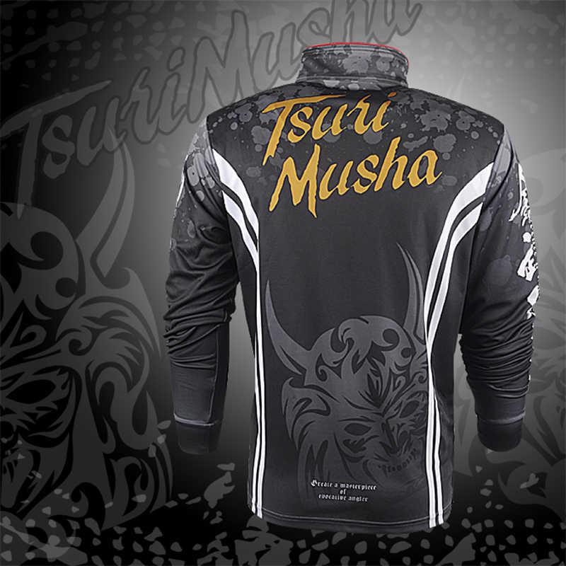 Tsuri musha roupas de pesca verão manga longa masculina secagem rápida à prova dwaterproof água roupas de pesca camisa respirável calças de pesca wear