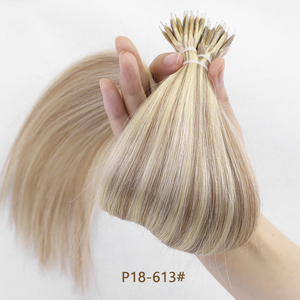 Image 4 - MRSHAIR Nano Rings Micro Ring 100% Human Hair Extensions Non remy Hair Brown Blonde Pure Color 50/200pc 12 16 20 24 Inch