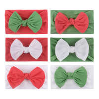 2020 Baby Girls Headband Kids Big Bow Knot Hair Bands Stretchy Cotton Hairbands Candy Solid Color Headdress Hair accessories