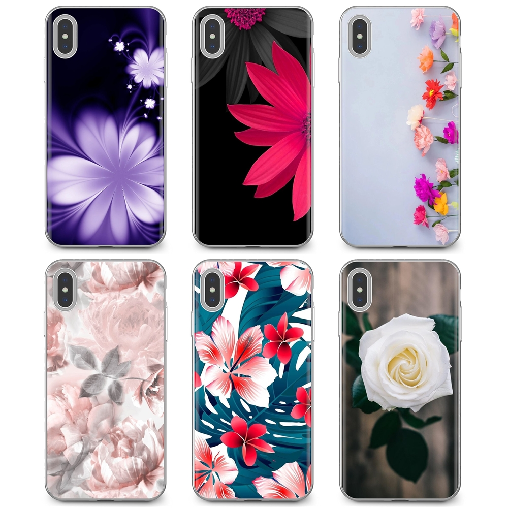 Translucent Flower Wallpaper Silicone Phone Cover Bag For Samsung Galaxy A10 A30 A40 A50 A60 A70 S6 Active Note 10 Plus Edge M30 Phone Case Covers Aliexpress