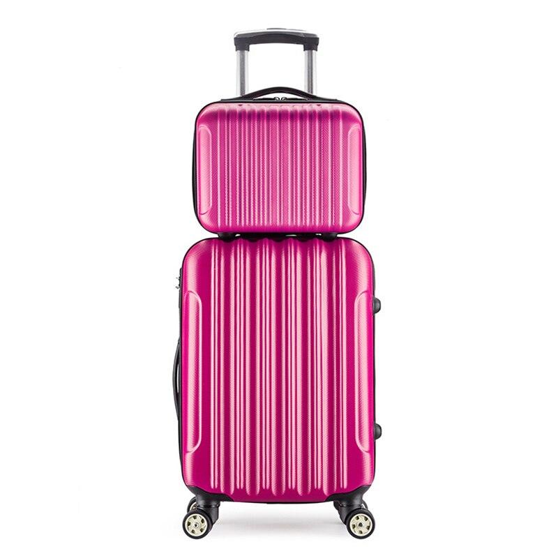 Trolley Universal Wheel Travel Luggage 14 Inch Cosmetic Case 20 Inch Password Zipper Boarding 24 Inch Suitcase For Women Men