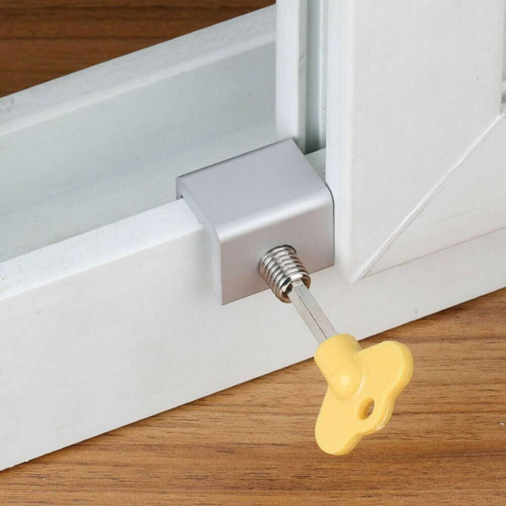 Limitador de ventana deslizante Sash tapón cerraduras de gabinete puerta y ventana limitador de bloqueo de ventana Bloqueo de ventana traducción seguridad Anti-herramienta para robo