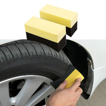 For Car Wheels Brush Cleaning Sponge Wipe Corner Edge Sponge Tire Wax Polishing Sponge Car Interior Cleaning Auto 5pcs/ set image