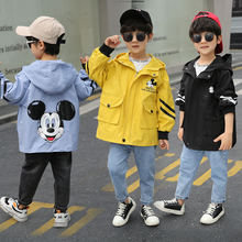 Boys Coats Kids Jacket Windbreaker Spring Fall Thick Hooded