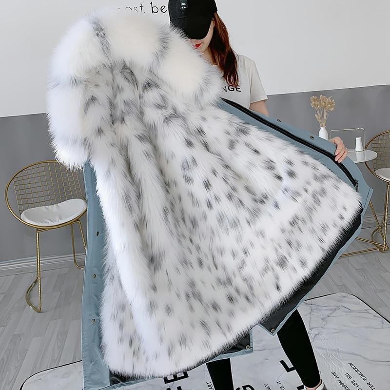 Moda inverno grosso superar casaco de inverno feminino 2019 novas roupas de família mãe e filha jaqueta de pele removível forro de pele parkas - 3