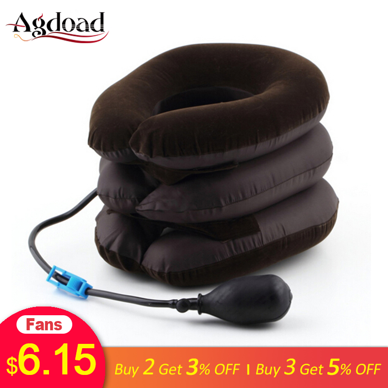 Neck Tractor Inflatable Air Cervical Neck Traction Device Neck Support Collar Vertebra Orthopedics Massage Neck Relaxation Brace