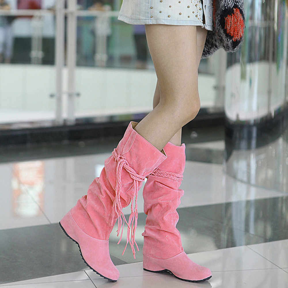 Fashion Women Boots Heighten Platforms Thigh High Tessals Boots Motorcycle Winter Casual Shoes Ladies Women's Boots Shoes New