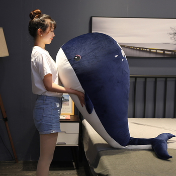 Hot Nice Huggable Lovley Super Soft Giant Shark Plush Whale Stuffed Ocean Animals Kawaii sea Doll Toys Cartoon Toy kids Gift fancytrader 200cm x 150cm giant plush stuffed usavich bed sofa tatami carpet nice gift for kids free shipping ft50668