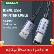 Ugreen USB yazıcı kablosu USB tip B erkek bir erkek USB 3.0 2.0 kablo Canon Epson HP için ZJiang etiket yazıcı DAC USB yazıcı