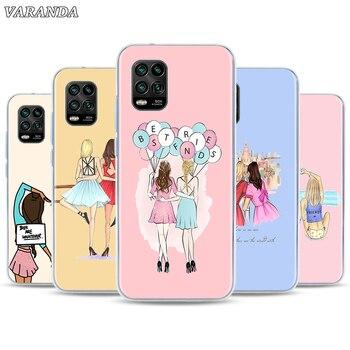 Carcasa carcasa para chicas Bff mejores amigos silicona funda de teléfono para Xiaomi Mi Note 10 9T CC9 CC9E A3 10 jóvenes 10 Lite 10 Pro 5G Poco X2