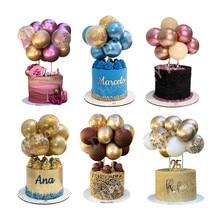 10 adet 5 inç Metal balon kek Topper bulut şekli konfeti balonları doğum günü bebek duş düğün parti dekor ev gereçleri