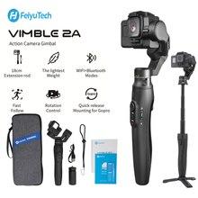 Feiyu kamera sportowa GoPro Gimbal stabilizator dla Gopro Hero 8/7/6/5,18cm wysuwany kijek ze statywem i torba do noszenia Vimble 2A