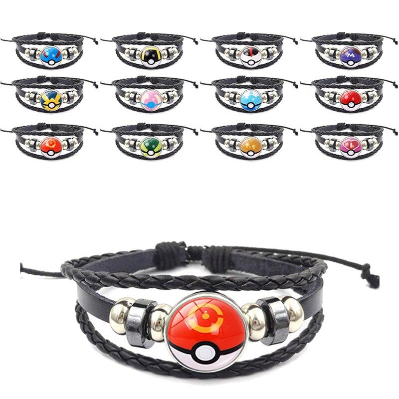 anime-font-b-pokemon-b-font-poke-ball-bracelet-cosplay-font-b-pokemon-b-font-go-time-gem-cabochon-metal-wristband