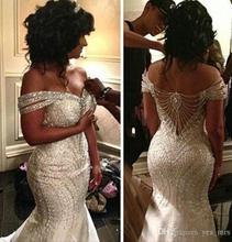 Eslieb באיכות גבוהה חרוזים חתונה שמלה 2020 חתונה שמלות תפור לפי מידה בת ים כלה שמלות