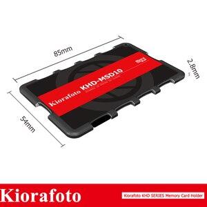 Image 5 - Kiorafoto Camera Accessories Memory Card Holder SD/MSD/Micro SD/TF Protector for Canon 1300d/Nikon D5300/Sony A6000 Lightweight
