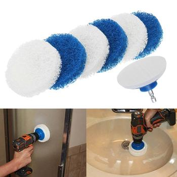 7Pcs Cleaning Scouring Scrubber Backing Pad Electric Drill Brush Accessories Set cleaning patio furniture, windows, siding boat image