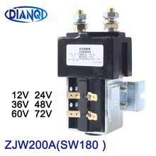 DIANQI SW180 NO (مفتوحة عادة) نمط 12 فولت 24 فولت 36 فولت 48 فولت 60 فولت 72 فولت 200A تيار مستمر قواطع ZJW200A للرافعة شوكية التعامل مع ويهكل سيارة ونش