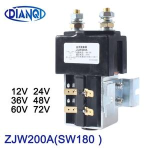 Image 1 - DIANQI SW180 NO (normally open ) style 12V 24V 36V 48V 60V 72V 200A DC Contactor ZJW200A for forklift handling wehicle car winch