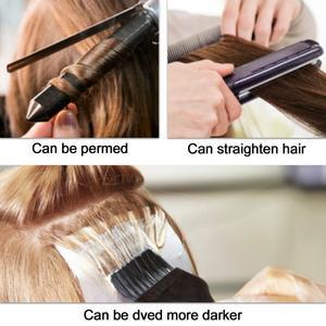 """Image 5 - Neitsi ישר שיער טבעי קוקו 100% טבעי מכונת עשה רמי קליפ פוני אמיתית זנב שיער הרחבות 12 """"16"""" 20"""""""