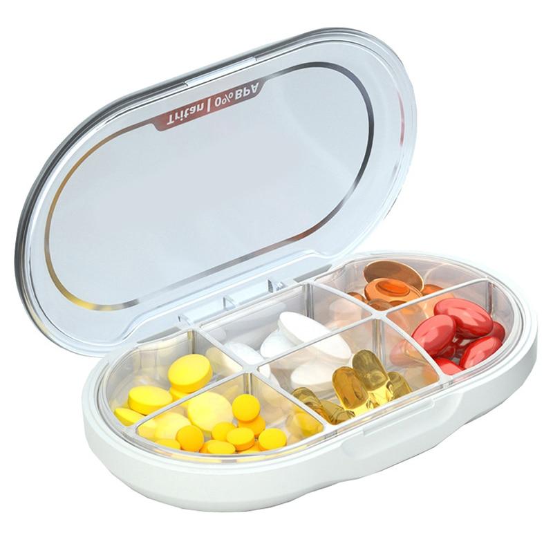 Pílula Caixa de Comprimidos Organizador Silicone Moisture-Proof Design Caso Pílula Para Segurar Pílulas de Vitaminas Suplementos E Medicamentos Dispenser