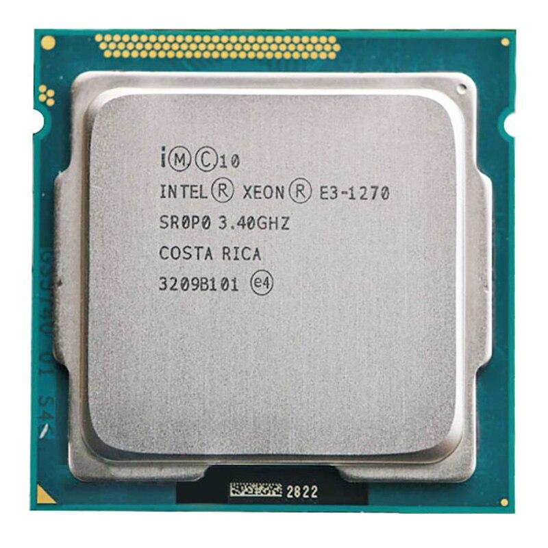 Para Intel Xeon E3-1270 E3 1270 CPU 3.4GHz 8M 80W LGA 1155 Quad-Core CPU Servidor