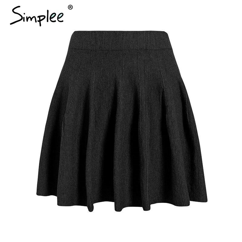 Simplee A-line Elegant Ruffles Falbala Mini Skirt High Waist Casual Streetwear Women Skirt Autumn Party Fashion Female Skirt
