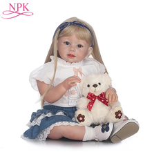 NPK 28inch 70cm Girls Dolls Reborn With Soft Body Baby Toddler Doll Newborn Baby Doll Realistic Real Life Dolls Toys For Child