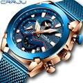 Мужские часы CRRJU люксовый бренд армейские военные часы высокого качества 316L нержавеющая сталь хронограф часы Relogio Masculino 2019