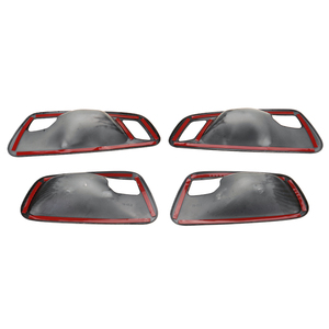 Image 2 - 탄소 섬유 인테리어 도어 핸들 그릇 커버 트림 ABS 4Pcs BMW 2 시리즈 그란 Tourer F45 F46 218i 2014 2015 2016 2017 2018