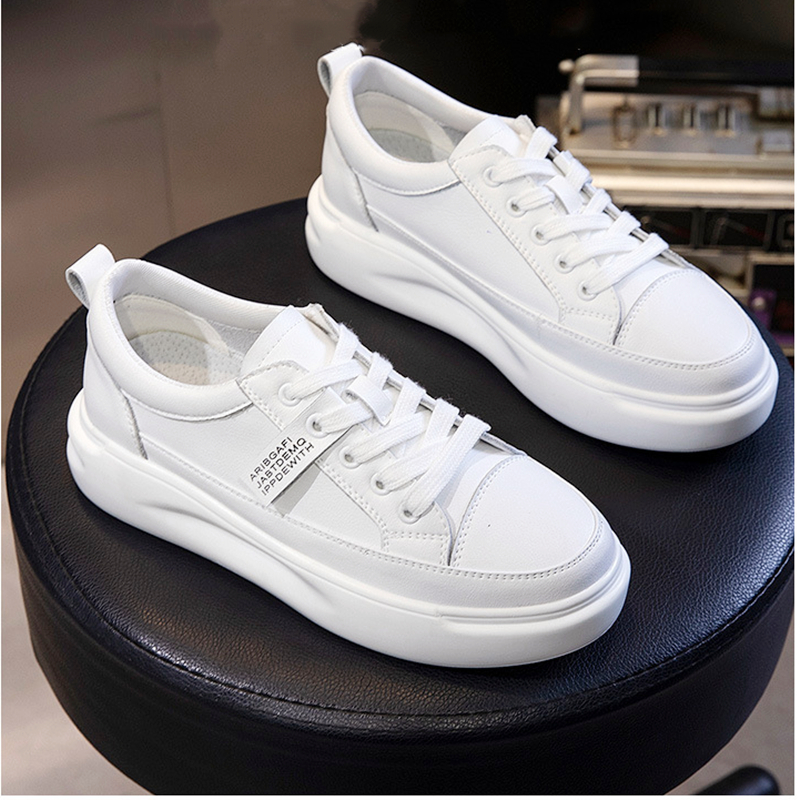 Women Shoes 2020 Spring New Fashion Genuine Leather Shoes Female White Shoes Flats Platform Sneakers High Quality Sneakers Women